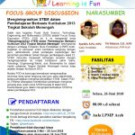 FGD: Mengintegrasikan STEM dalam Pembelajaran Berbasis Kurikulum 2013 Tingkat Sekolah Menengah