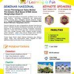 Seminar Nasional: Inovasi Pembelajaran Sains Melalui Pendekatan ISLE Based STEM dalam Menghadapi Abad 21